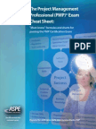 PMP Cheat Sheets