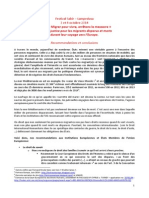 Recommandations Et Conclusions Workshop Lampedusa - Octobre 2014 - FR