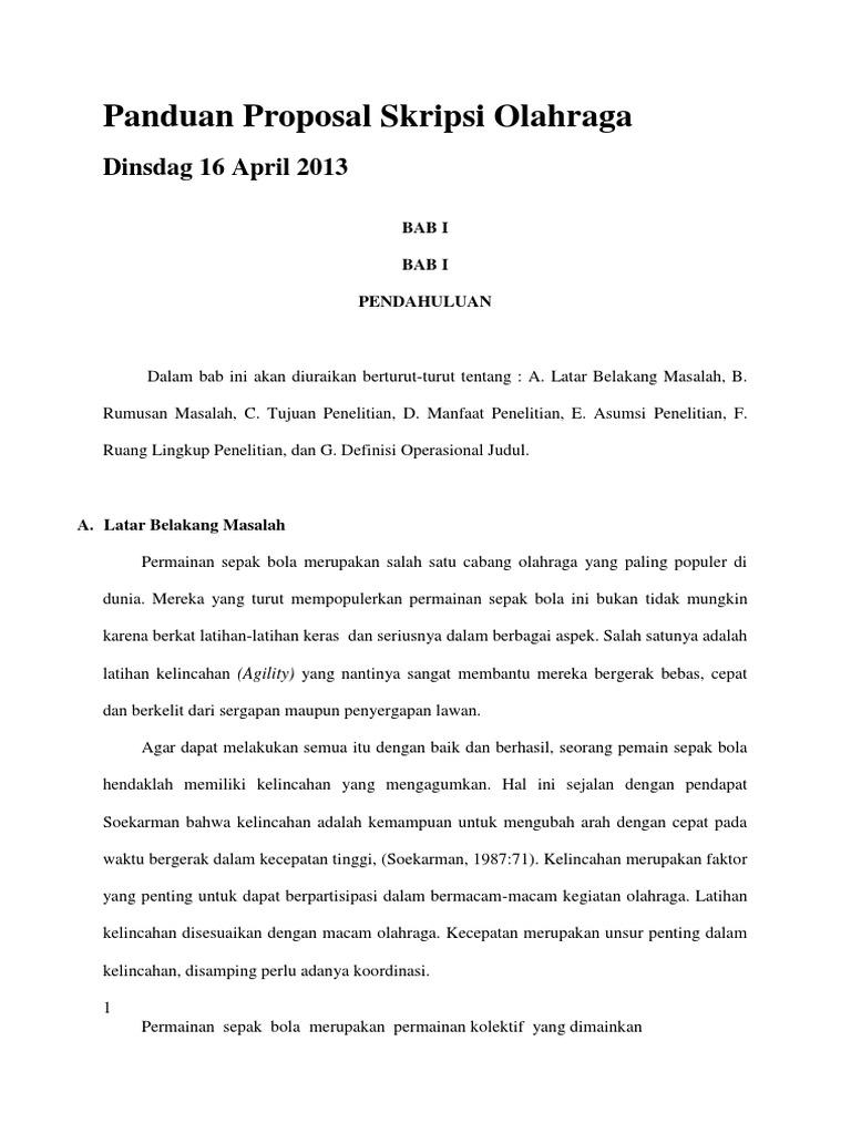 Contoh Proposal Skripsi Olahraga Bola Basket Kumpulan Berbagai Skripsi