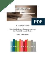 Kitty Kelly Epstein list of Publications