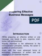 Preparing Effective Business Messages Ppt