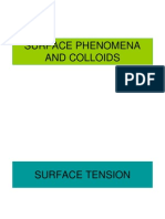 Surface Phenomena and Colloids