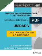 Unidad v.la Planeación y La Empresa