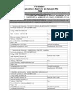 Formulario Proyectos de Aula CER LAS MERCEDES