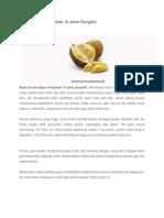 Buah Durian Mengobati 10 Jenis Penyakit