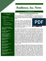 2009 News Letter Vol 4 - Advanced Teaching