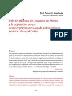 Artículo - Entre Los Objetivos de Desarrollo Del Milenio y La Cooperación Sur-sur - José Antonio Sanahuja