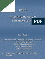 Kuliah 4 Bab4 Tamadun Islam