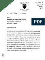 Oficio Del Magistrado Luis Gabriel Miranda a Policía Nacional