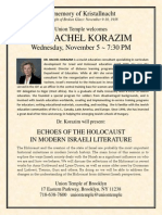 Korazim Kristallnacht 2014