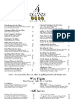 4 Olives - Wine Glass List - 12/09