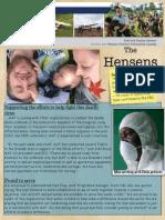 Hensen Newsletter Fall Edition 2014