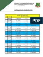 Pesta Hoki Ipgm 2014 - Jadual