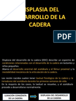 DISPLASIA DESARROLLO CADERA