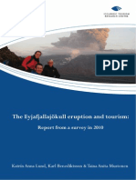 Lund, Benediktsson & Mustonen - The Eyjafjallajökul Eruption and Tourism - Report From a Survey in 2010