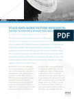 Food and Agriculture Research