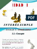 Unidad I.- Interés Simple