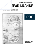 Welbilt ABM-100-4 Breadmachine Manual