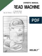 Welbilt ABM-100-4 Breadmachine Manual
