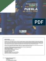División territorial del estado de Puebla 1810-1995
