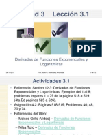 Leccin 3.1 Derivadas de Funciones Exponenciales y Logaritmicas