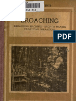Broaching Machines-broach Making Broaching Operations