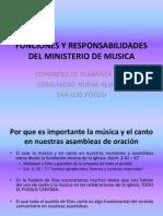 Funciones y Responsabilidades Del Ministerio de Musica