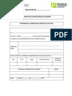 Formatos Aceptacion Asesoria Levantamiento Observacopnes Pt y Dt Uss