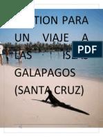 Gestion Para Un Viaje a Las Islas Galapagos