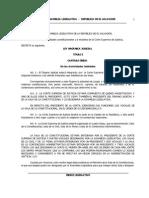 LEY Organica de La CSJ de El Salvador