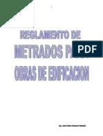 Reglamento de Metrados Para Obras de Edificacion