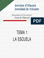 Tema1. La Escuela(1)