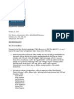 Public Records Request from State Democratic Party