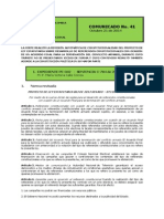 CORTE CONSTITUCIONAL No 41 Comunicado 21 de Octubre de 2014 (1)