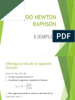 Ejercicios de Newton Raphson