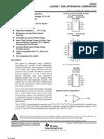Tlc372 Lincmos Dual Differential Comparators