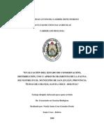 Ev. Estado de Conservación - Fauna Silvestre Municipio San Julián - Santa Cruz