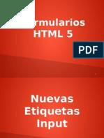 Formularios html5
