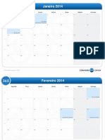 calendário mensal-2014