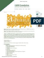 SWARNI Foundation_ Advaita