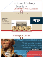 American History Review- Washington to Madison
