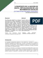 A Propósito de La Noción de Movimiento Virtualización de Los Movimientos Sociales Juan Aceros
