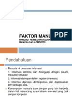 Materi IMK - Pertemuan 2 Faktor Manusia *from Bu Uning