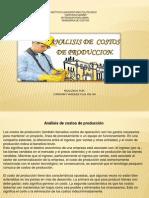 ANALISIS CRITICO DE COSTOS DE PRODUCCION