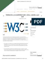 Validación y Accesibilidad Web_ Cómo, Cuándo y Por Qué