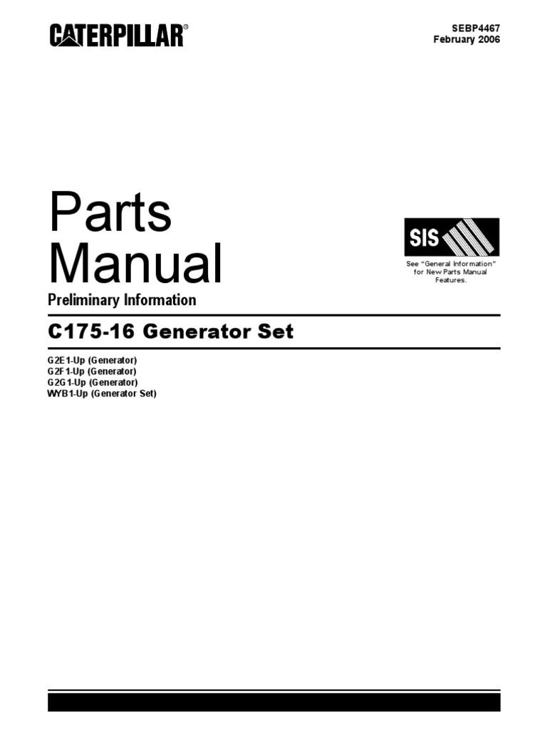 all parts manual cat c175 rh scribd com Cat C7 Manual caterpillar 3512 generator parts manual