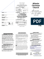 October 26, 2014 Trifold Bulletin