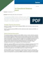 Gartner Magic Quadrant for Operational Database Management Systems