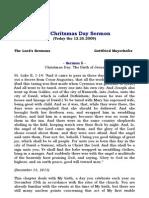 The Chritsmas Day Sermon
