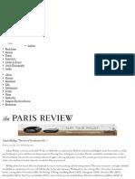 Paris Review - The Art of Nonfiction No